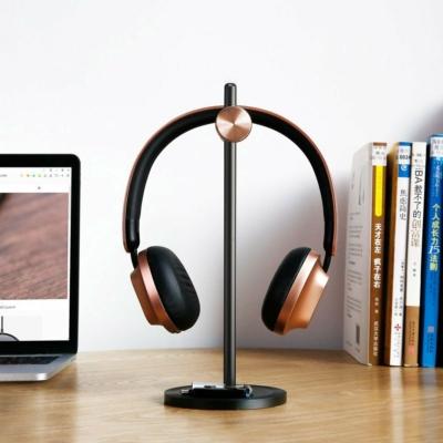 Baseus DB01 fejhallgató-tartó, fekete-arany