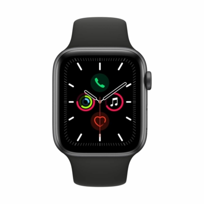 Apple Watch Series 5 44mm Space Gray Alumínium Black Sport Band