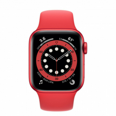 Apple Watch Series 6 40mm Red Alumínium Red Band